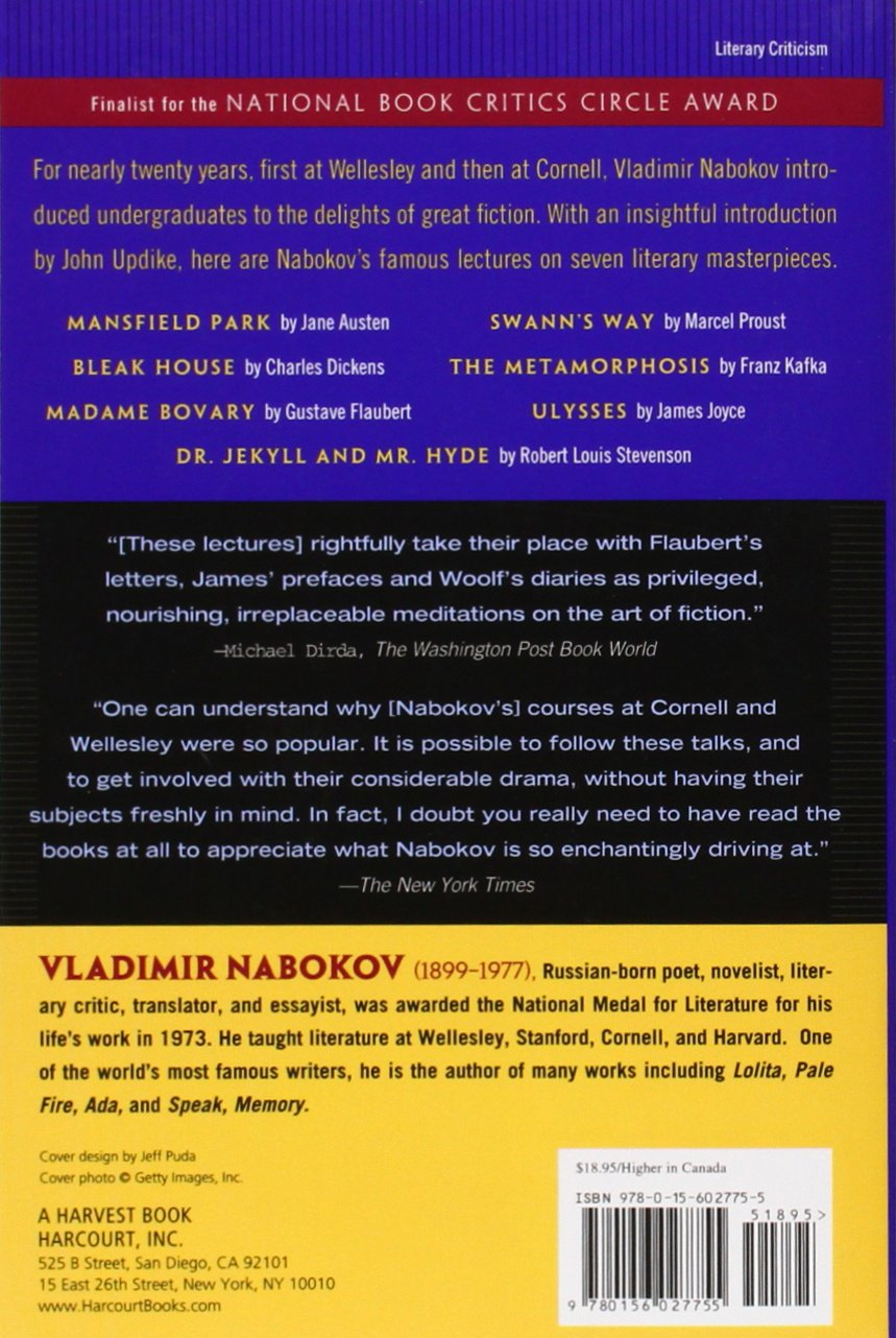 lectures on literature harvest book co uk fredson lectures on literature harvest book co uk fredson bowers vladimir vladimirovich nabokov 9780156027755 books