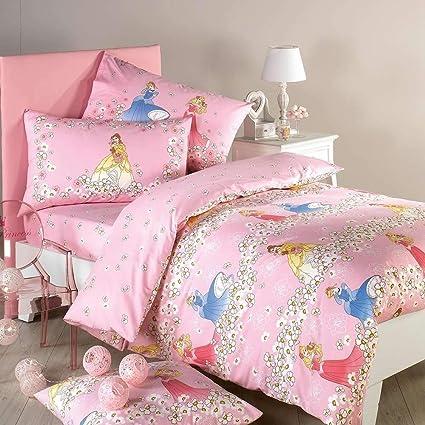 Completo Copripiumino Caleffi Disney.Caleffi Completo Copripiumino Singolo Disney Princess Romantic 100 Cotone