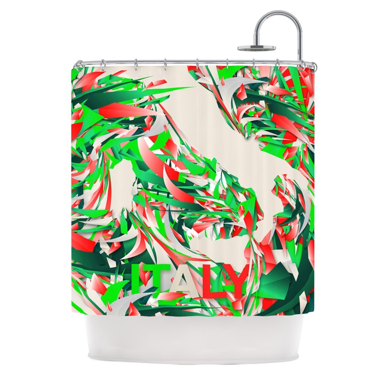 Kess InHouse Danny Ivan ''Italy'' Shower Curtain, 69 by 70-Inch, World Cup