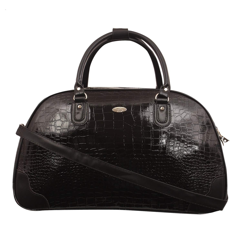 8db7679edaa0 kézitáska Women s Synthetic Top Handle Travel Duffle Bag (Black)   Amazon.in  Bags