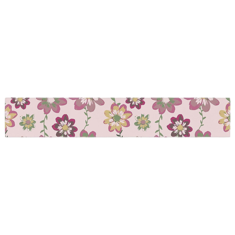 Kess InHouse Nika Martinez Romantic Flowers in Pink Blush Floral Table Runner