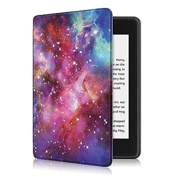 Fmway Funda Cuero Carcasa con Soporte Función y Auto Sueño/Estela para Amazon Kindle Paperwhite 10.ª generación - Modelo de 2018(no Compatible con ...