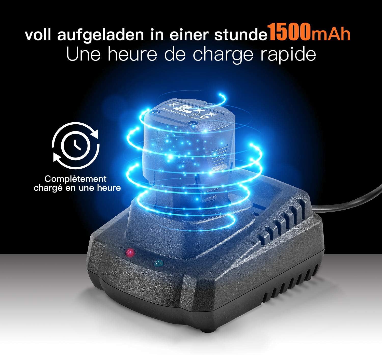 D97-301A TACKLIFE Remplacement Outil Electrique Batterie 10.8V 1.5Ah Li-Ion pour Scie Sabre Sans Fil RES001 Charge Rapide 1 heure