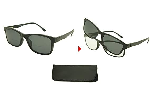 86bc55daca6 ColorViper Clear Bifocal + Polarized Magnetic Clip on   Polarized Sunglasses  New Arrived (A1 Square