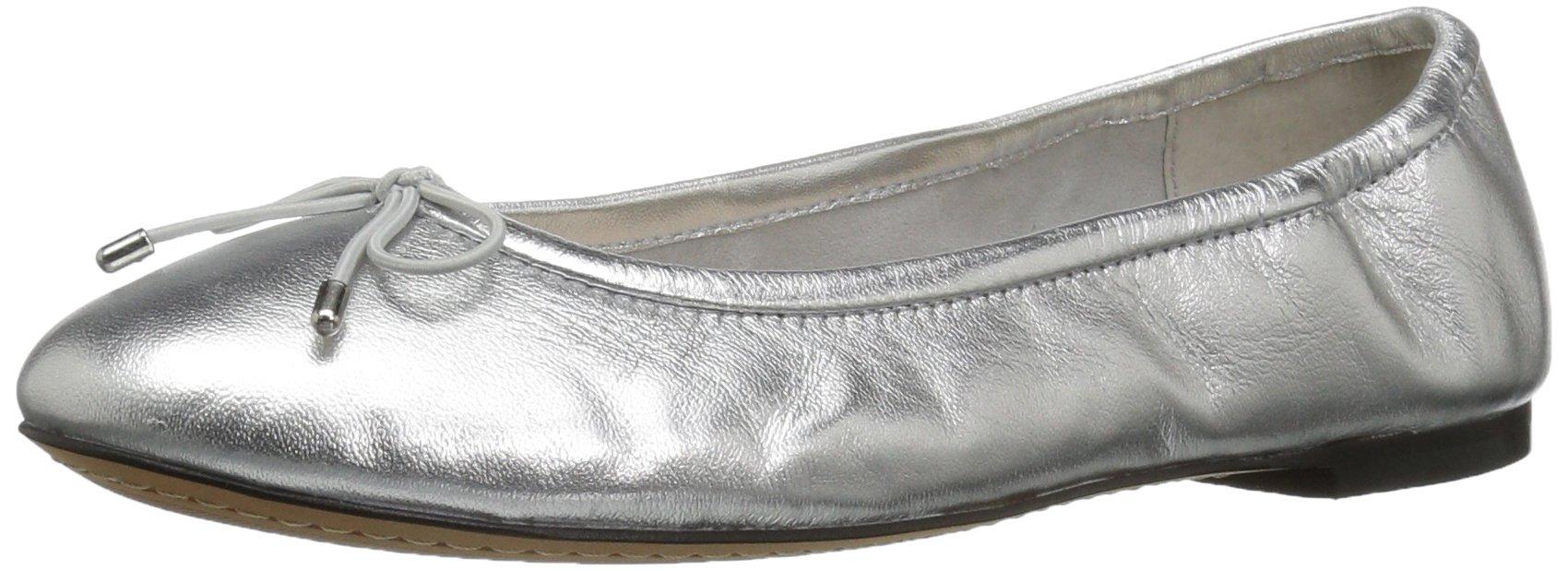 206 Collective Women's Madison Ballet Flat, Silver/Metallic, 10.5 B US