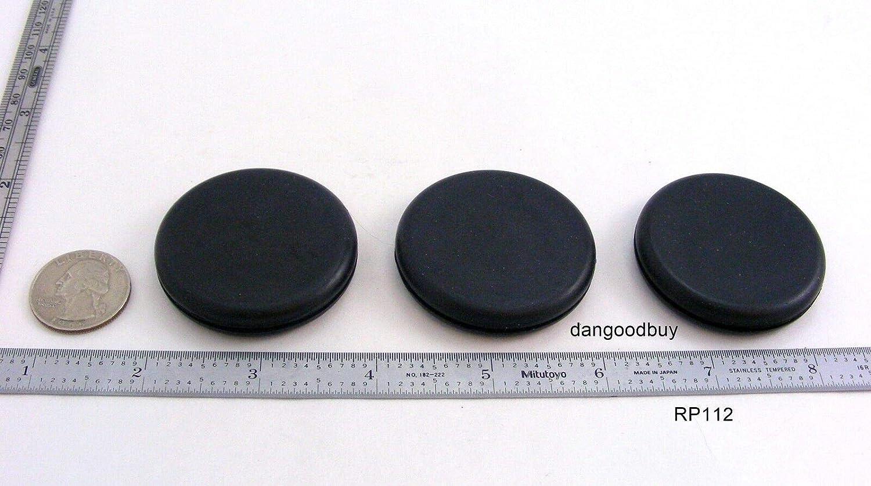 "Rubber Plug 12 Rubber Grommets Without Hole Solid Grommet 1//4/""  Diameter"