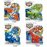 4 Pack Set: Playskool Transformers Rescue Bots Boulder, Blades, Chase and Heatwave the Rescue Dinobot Figures
