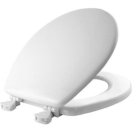 Mayfair Toilet Seat Installation.Mayfair 844ec 000 Toilet Seat Easily Remove Round Durable Enameled Wood White