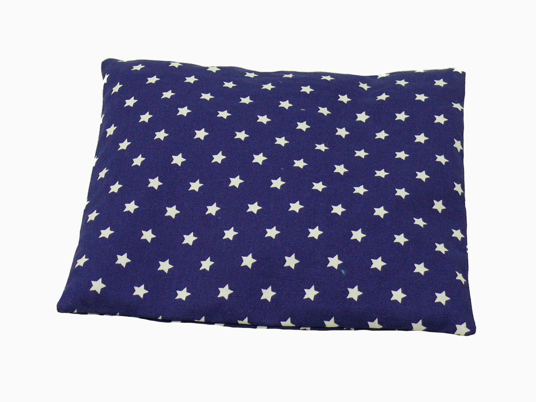 Sternchendruck 19x19cm Fitzibiz K/örnerkissen Stars aus 100/% Baumwolle und Dinkelf/üllung Dinkel-, Raps-, Weizen- oder Kirschkernf/üllung