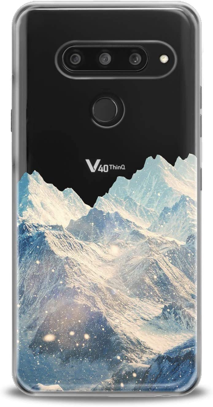 Anreda Silicone Phone Case for LG G8 ThinQ G7 One Fit G6 V60 5G V35 Plus V20 Amazing Mountain Landscape Clear Winter Mount Print Art Design Smooth Cover View Cute Flexible Nature Slim fit Soft Kid