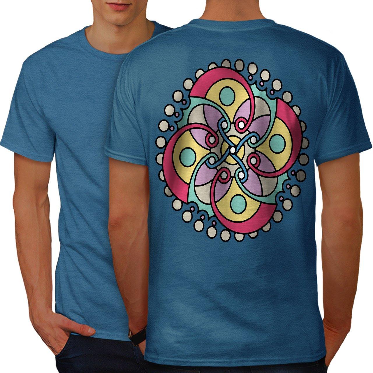 Mandala Spiral S Tshirt Pattern Art Design Print On The Back