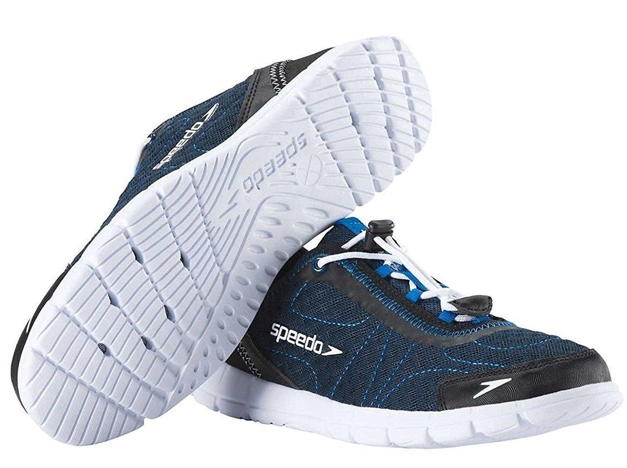Speedo Mens Hybrid Watercross Water Shoe, Navy/White (8) by Speedo