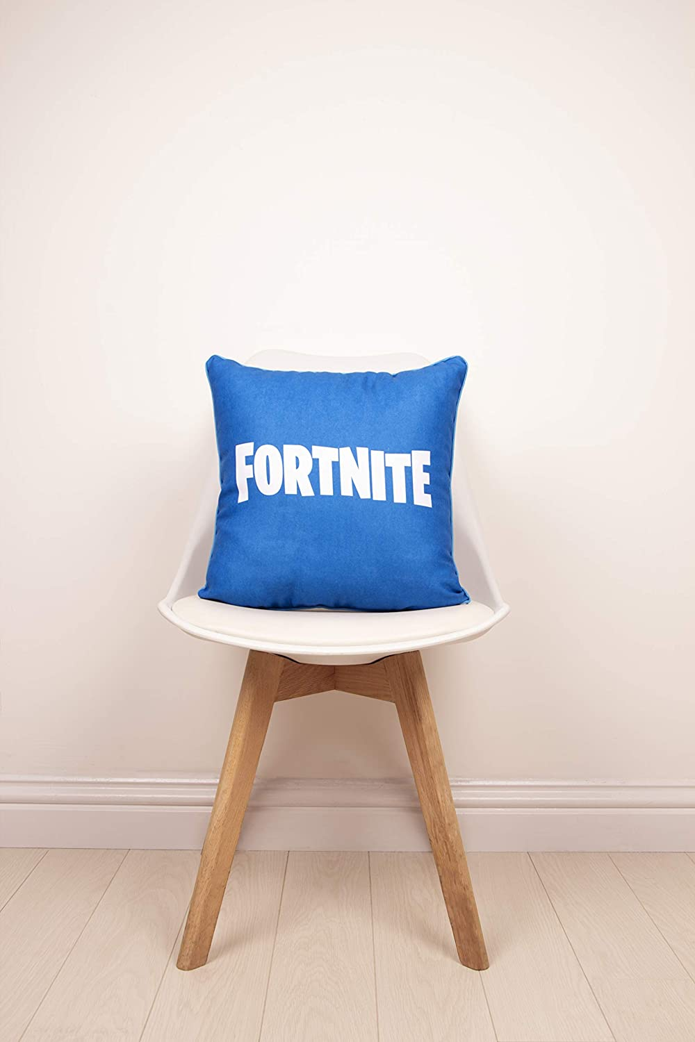 fortnite official square cushion pillow officially licensed super soft two sided emotes design perfect for any children s room or bedroom blue