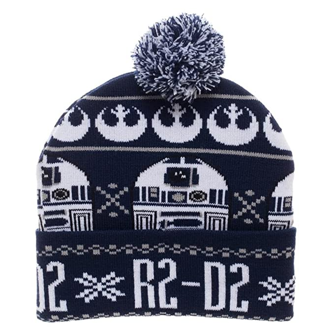 6d0125ed467 Image Unavailable. Image not available for. Color  Star Wars R2-D2 Fair  Isle Pom Beanie