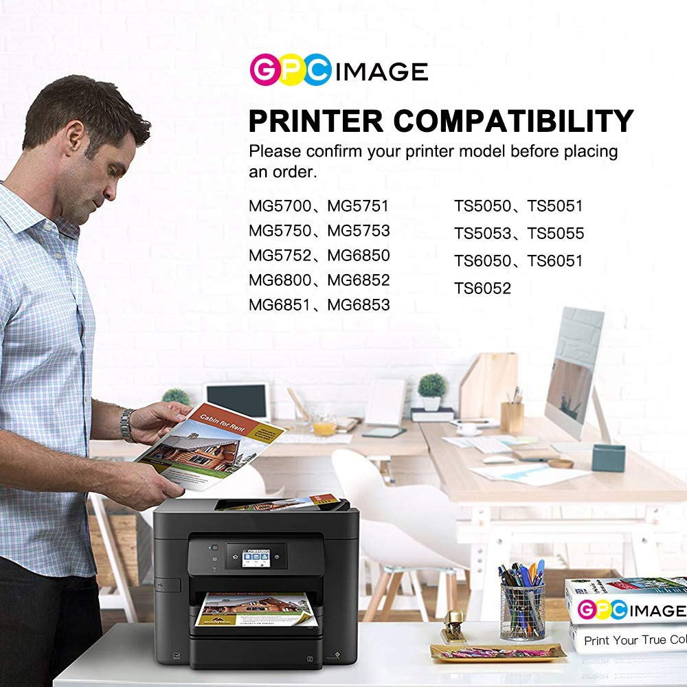 GPC Image 6 Pack PGI-570XL CLI-571XL Compatible Ink Cartridges for Canon 570XL 571XL for Canon PIXMA MG5700 MG5750 MG5751 MG6850 MG6851 TS5050 TS5051 TS6050 2 PGBK,1 Black,1 Cyan,1 Magenta,1 Yellow
