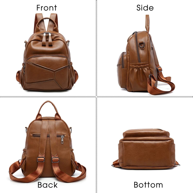 Women Stylish Soft Quality PU Backpack New Fashion Casual School Bags For Teenager Girls Shoulder Travel Bag,Black,29x25x15cm