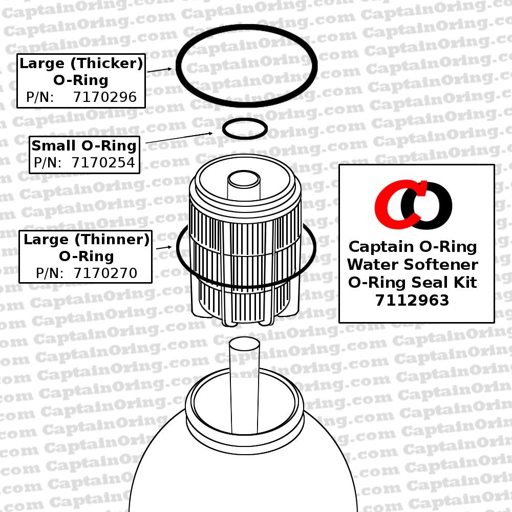 Water Softener O Ring Seal Kit 7112963 For Kenmore Ge And More Whirlpool Wiring Diagram Systems Includes P N 7170296 7170254 7170270 Tools Home