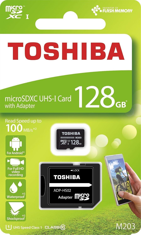 Toshiba microSDXC M203 R100 128 GB, THN de m203 K1280ea: Amazon.es: Informática