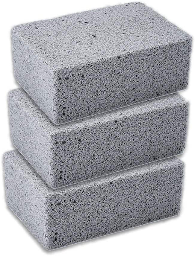 Sanitizes Restaurant Flat Top Grills Grilling Stone Cleaner Ecological Stone Cleaner 3pcs//Pack Pumice Grill Stone Cleaning Brick Griddles for Cleaning Grills Pans