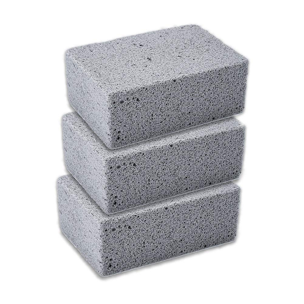 MAYiT 3pcs Grill Cleaning Brick Block, Reusable Griddle Grilling Cleaner Stone Pumice for BBQ Grills, Racks, Flat Top Cookers by MAYiT