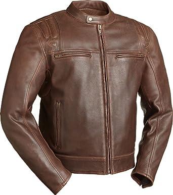 Mens Cruising Heavy Leather Biker Jacket
