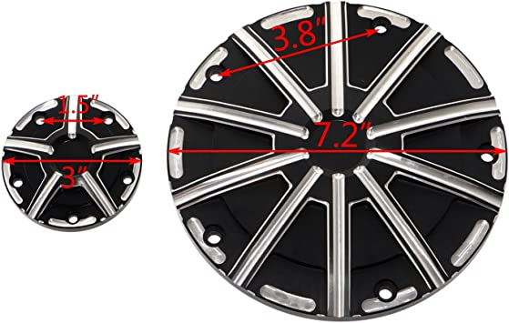 Senkauto 5 Hole Deep Cut Derby Timer Cover and Points Covers Kit for Harley 1999-2014 Harley Twin Cam Softail Touring Road King Electra Glide Dyna Color A