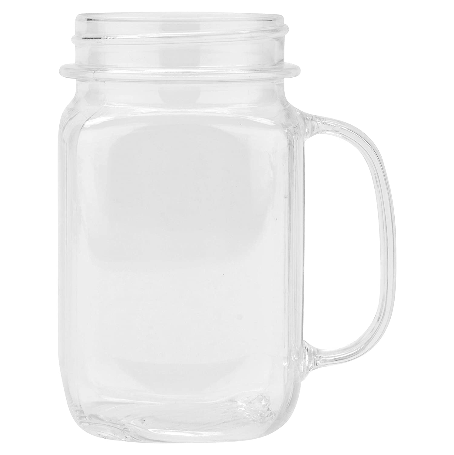 Amazon Com Get Mas 3 Cl Cheers Break Resistant Plastic Mason Jars 16 Ounce Clear Set Of 12 Industrial Scientific