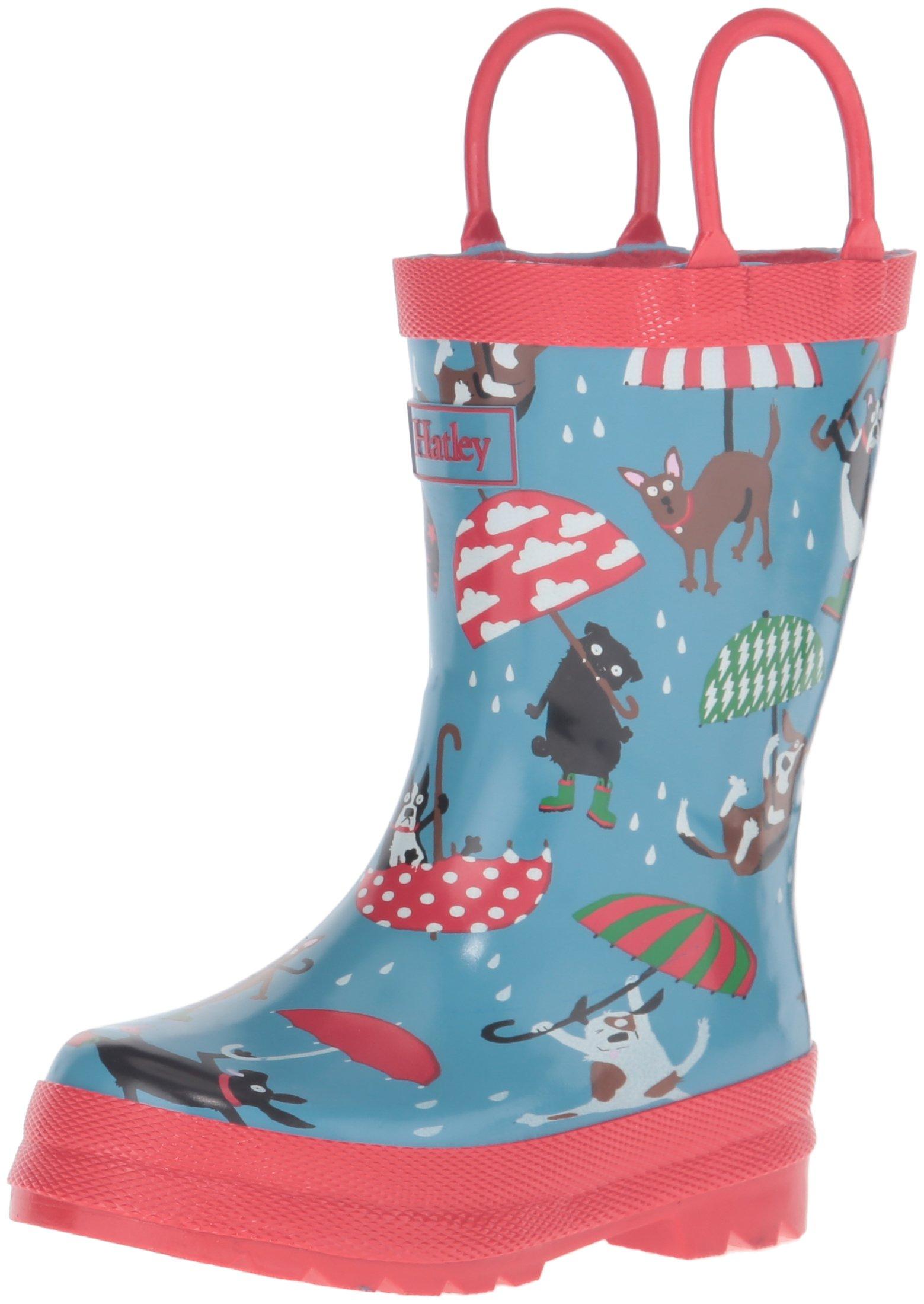 Hatley Boys' Printed Boots Rain Accessory, Raining Dogs, 9 M US Little Kid