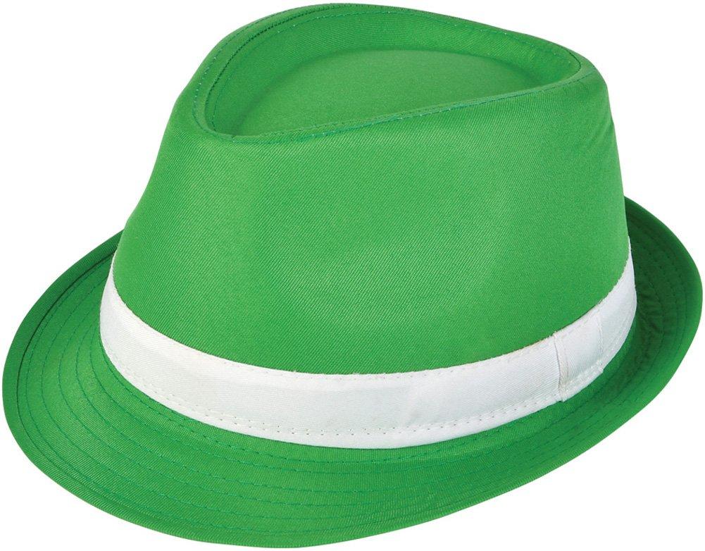 RINCO ST Patrick Day Party Hat Fashionable Classic Irish Fedora, Green White, One Size