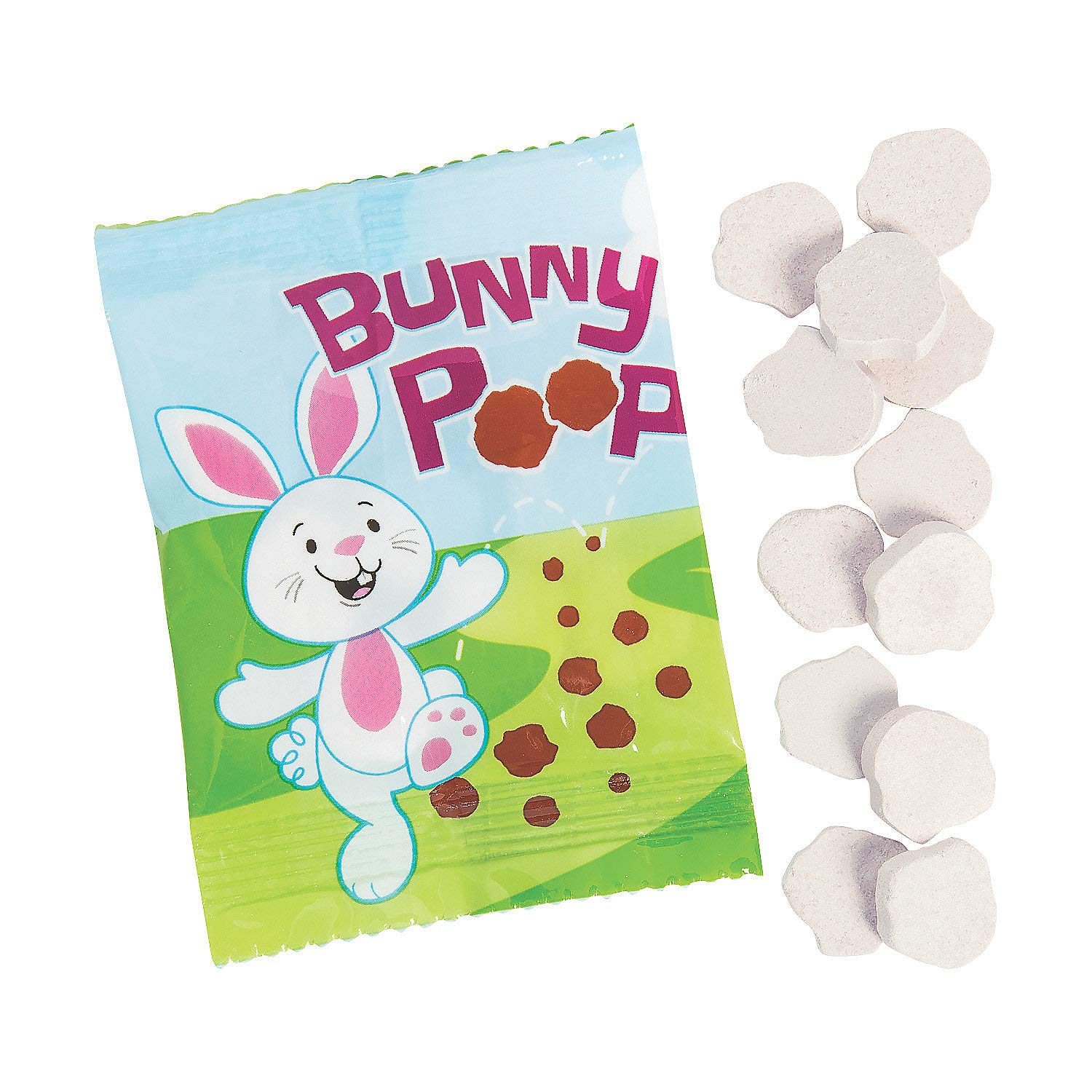 Fun Express - Bunny Poop Candy Packs for Easter- Hard Candy - Dextrose - Easter - 35 Pieces