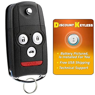For 07-13 Acura MDX 07-13 RDX Keyless Entry Remote Flip Key Fob N5F0602A1A - 4btn: Automotive