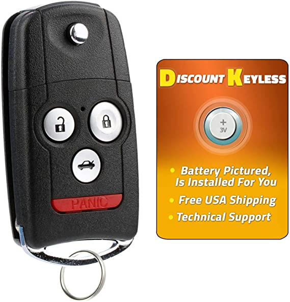 Keyless2Go Replacement Flip Key Switch Blade for Vehicles That Use MLBHLIK-1T 2 Pack