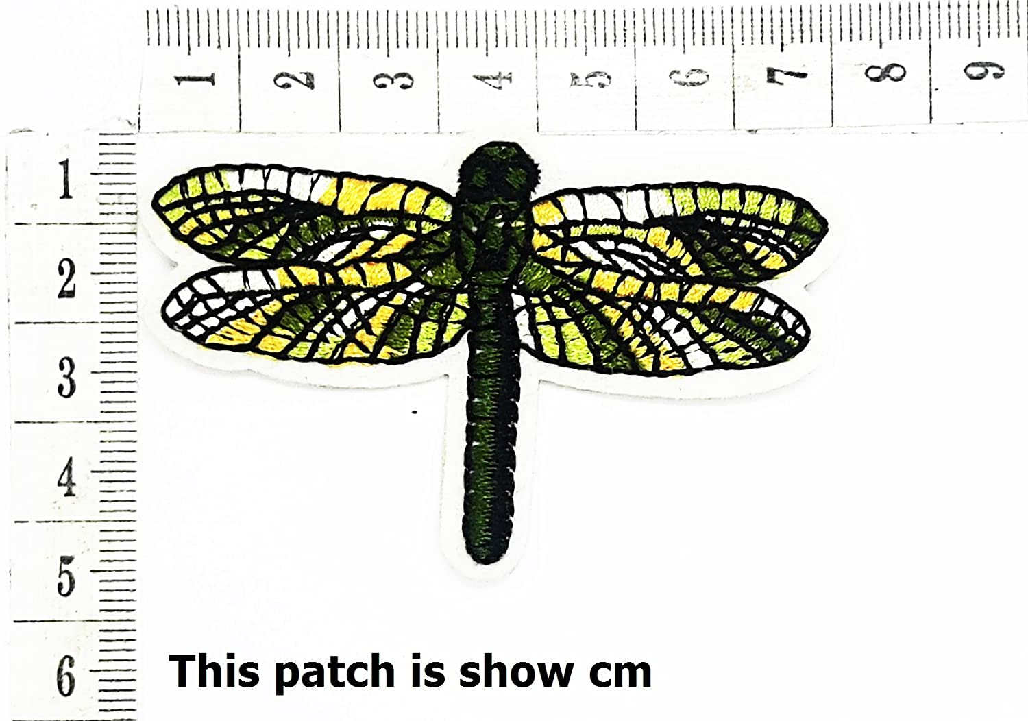 Metallic Dragonfly Patch Garden Insect Bug Cartoon Chidren Kids Embroidren Iron Patch/Logo Sew On Patch Clothes Bag T-Shirt Jeans Biker Badge Applique Devil Artwork