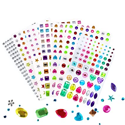amazon com self adhesive jewels multicolor rhinestone sticker