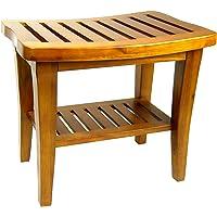 Redmon Indoor Outdoor Home Garden Decor Classic Genuine Teak Wood Bench