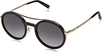 Max Mara Womens Mm Oblo Round Sunglasses BURGUNDY GOLD ...
