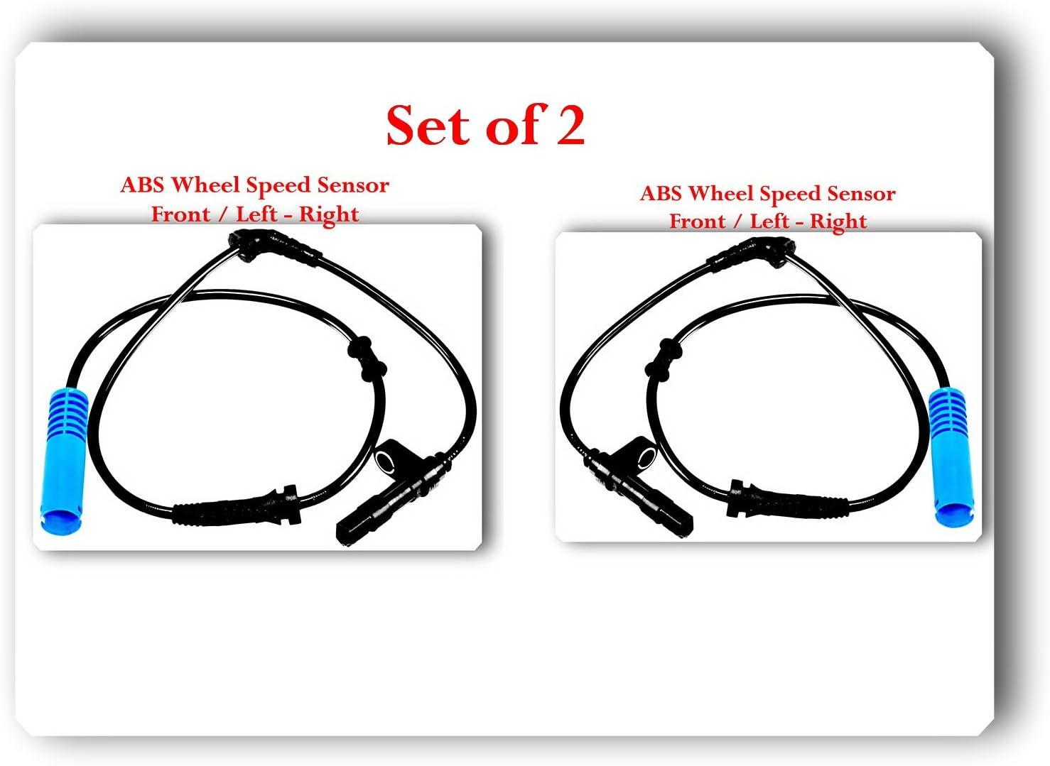 Right Mini Cooper 2002 2008 Left Fits Set 2 ABS Wheel Speed Sensor Front