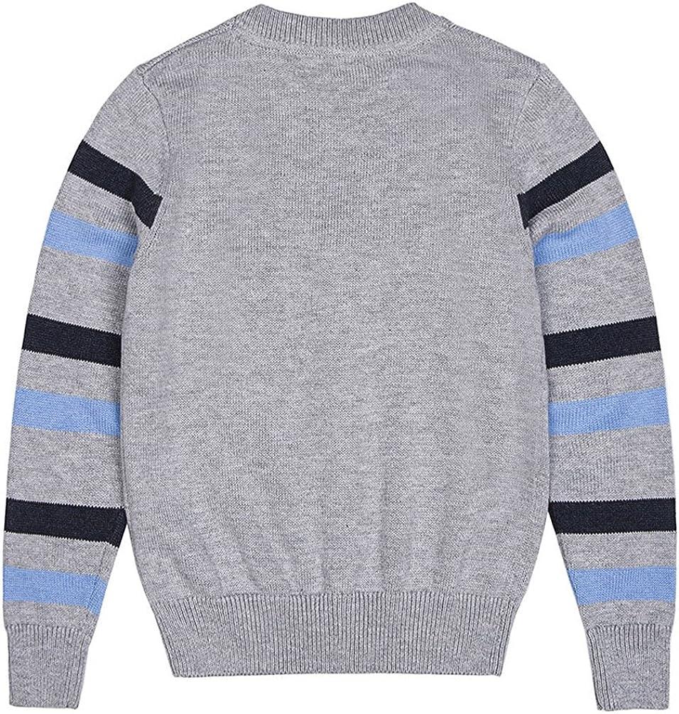Benito /& Benita Boys Cardigan Sweater Button Up V-Neck Gray Knit Jacket Long Sleeves