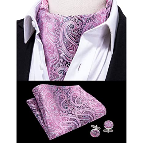 KDSXMLS Pañuelo Cravat Scrunch Set Seda Marca De Moda Hombres ...