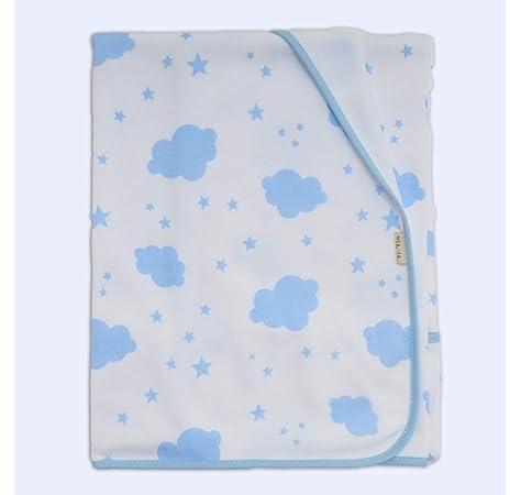 Arrullo para bebé estampado punto de algodón (80 x 80 cm) COELLO ROSA: Amazon.es: Bebé