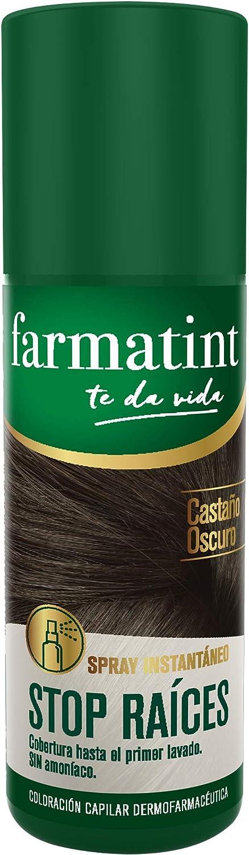 Farmatint Spray Instantáneo Capilar Stop Raíces, Castaño Oscuro - 75 ml