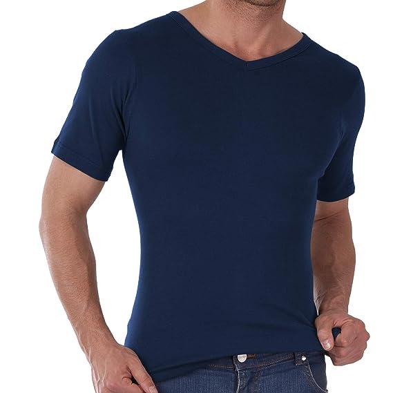 49b134d4dbfce8 Celodoro Herren V-Neck T-Shirt Feinripp Business T-Shirt - 100% Baumwolle  S-3XL  Amazon.de  Bekleidung
