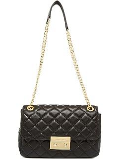 20f4dc7a801 MICHAEL Michael Kors Sloan Large Chain Shoulder Bag (Shoulder Bag, Black  Gold)