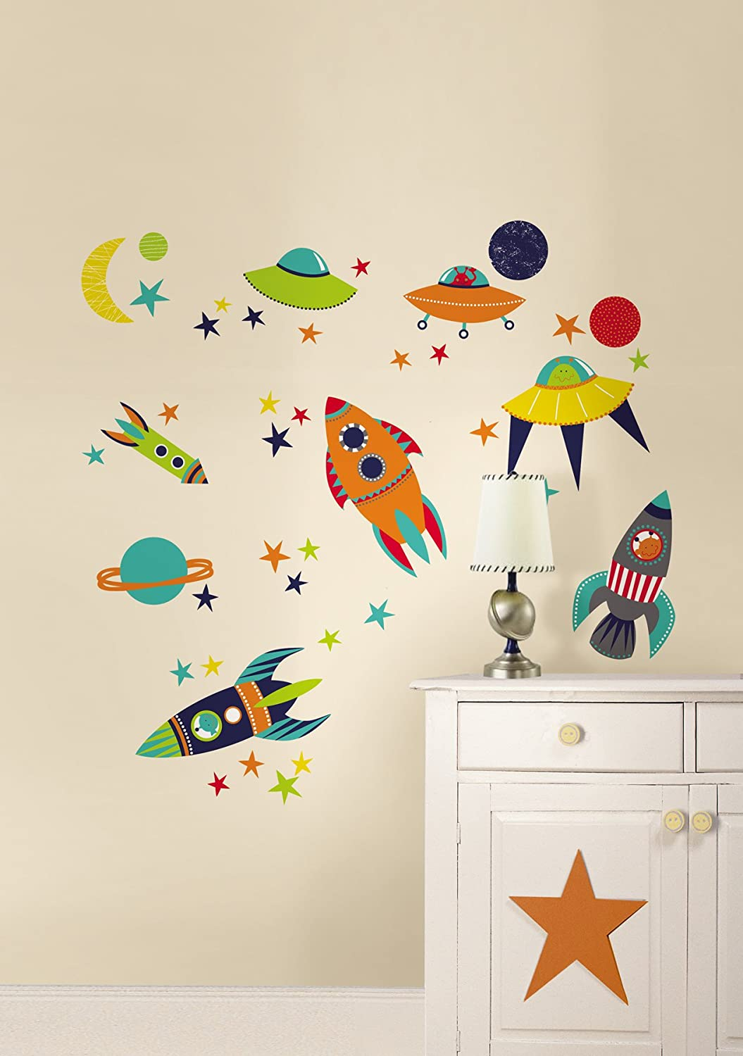 Wall Pops WPK0628 Blast Off Wall Decals   Decorative Wall Appliques    Amazon.com Part 79