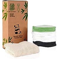 Herbruikbare make-up remover pads (16 Pack) Wasbare bamboevezel rondes Make-up Washandje met netto zak en karton set…