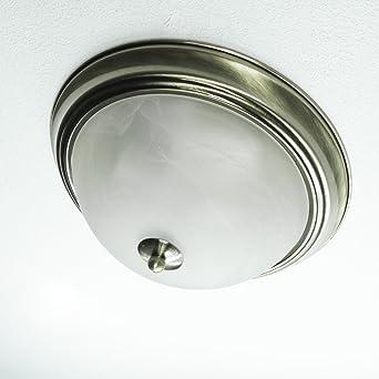 Edle Deckenleuchte Im Jugendstil 2x E27 Fassung Messing Optik Deckenlampe Mit Opalglas