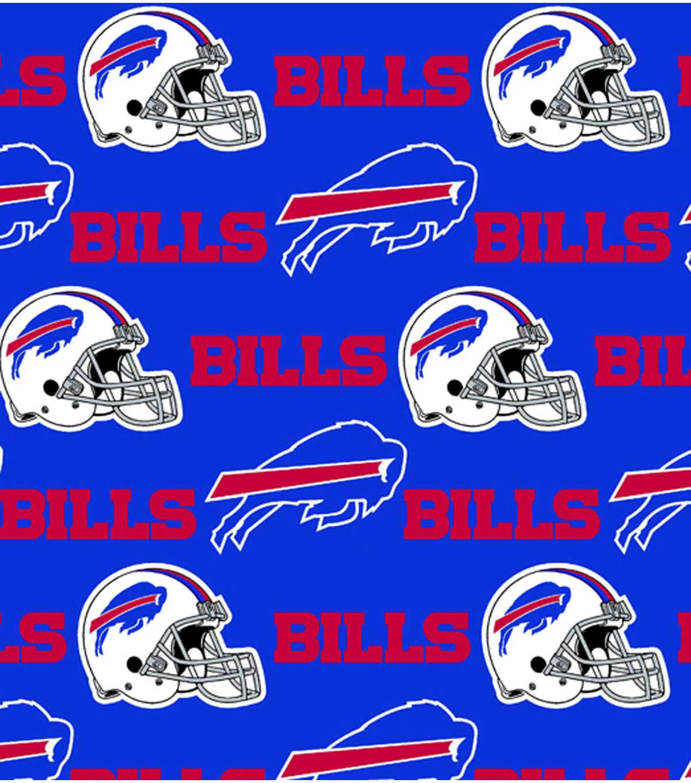 lovemyfabric NFL Sports Teams Logo Print Stage Backdrop/Photography Backdrop/Photo Studio Background 5 Feet by 9 Feet (Buffalo Bills) by lovemyfabric