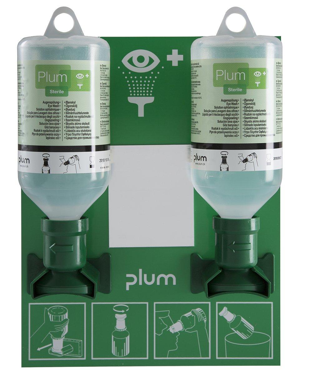 Plum 46948 Small Open Eyewash Station, 11'' Height, 3.25'' Wide, 8.5'' Length, 16.9  fl. oz., Polystyrene