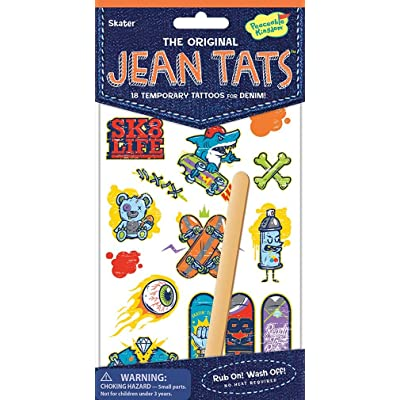 Peaceable Kingdom Jean Tats Skater Temporary Tattoos for Fabric: Toys & Games