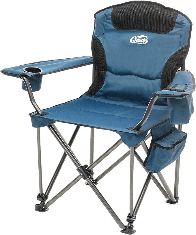 jusqu/à 150 kg TRESKO/® Chaise de Camping Pliante et transportable Chaise de p/êche Portable avec accoudoirs et Porte-gobelets